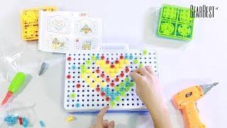 בלוקים ממוסגרים כלי קידוח חשמלי לילדים - GearBest.com