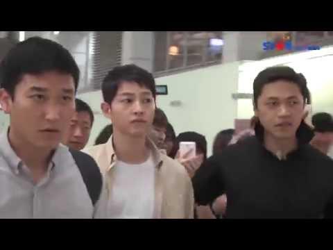 160624 송중기 출국 Song Joong Ki Incheon airport depart to Taiwan 宋仲基出发去台湾