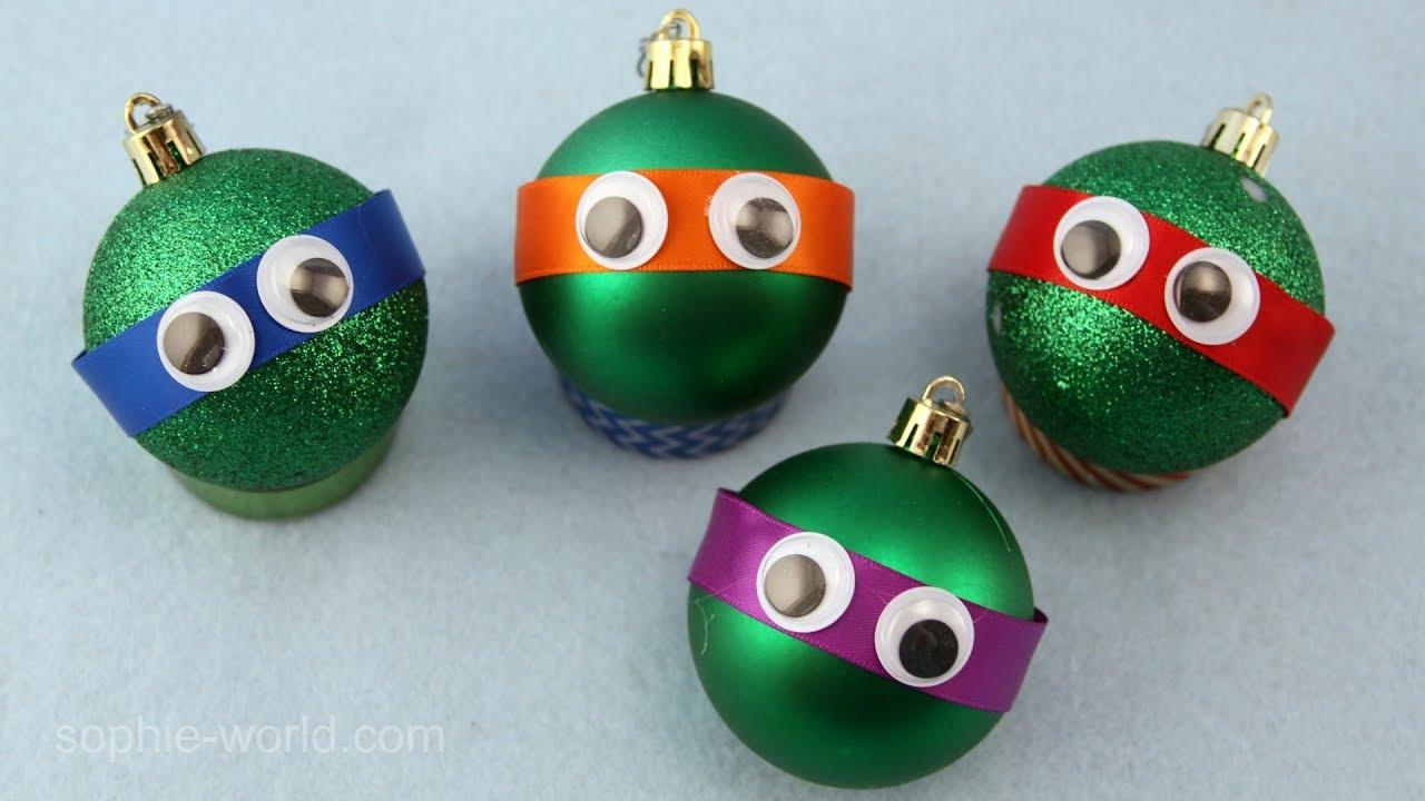 Ninja Turtle Christmas Tree.How To Make A Teenage Mutant Ninja Turtle Christmas Ornament Sophie S World