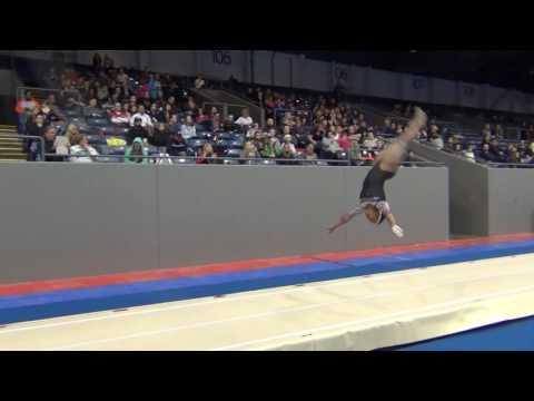 Angel Rice - Tumbling - Pass 2 - 2017 Winter Classic Finals