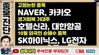 테마주진단2] 10/18 고점논란 종목 : NAVER,…