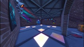 FORTNITE: *New* Secret Disco Dance Room Floor Located in (FLUSH FACTORY)