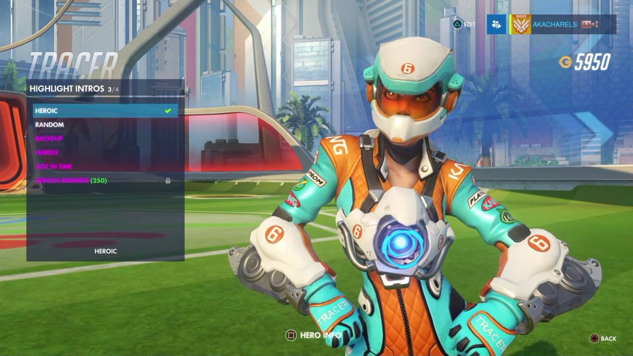 Overwatch: Tracer Mach T Skin All Emotes, Poses, Intros And Weapons    YouTube