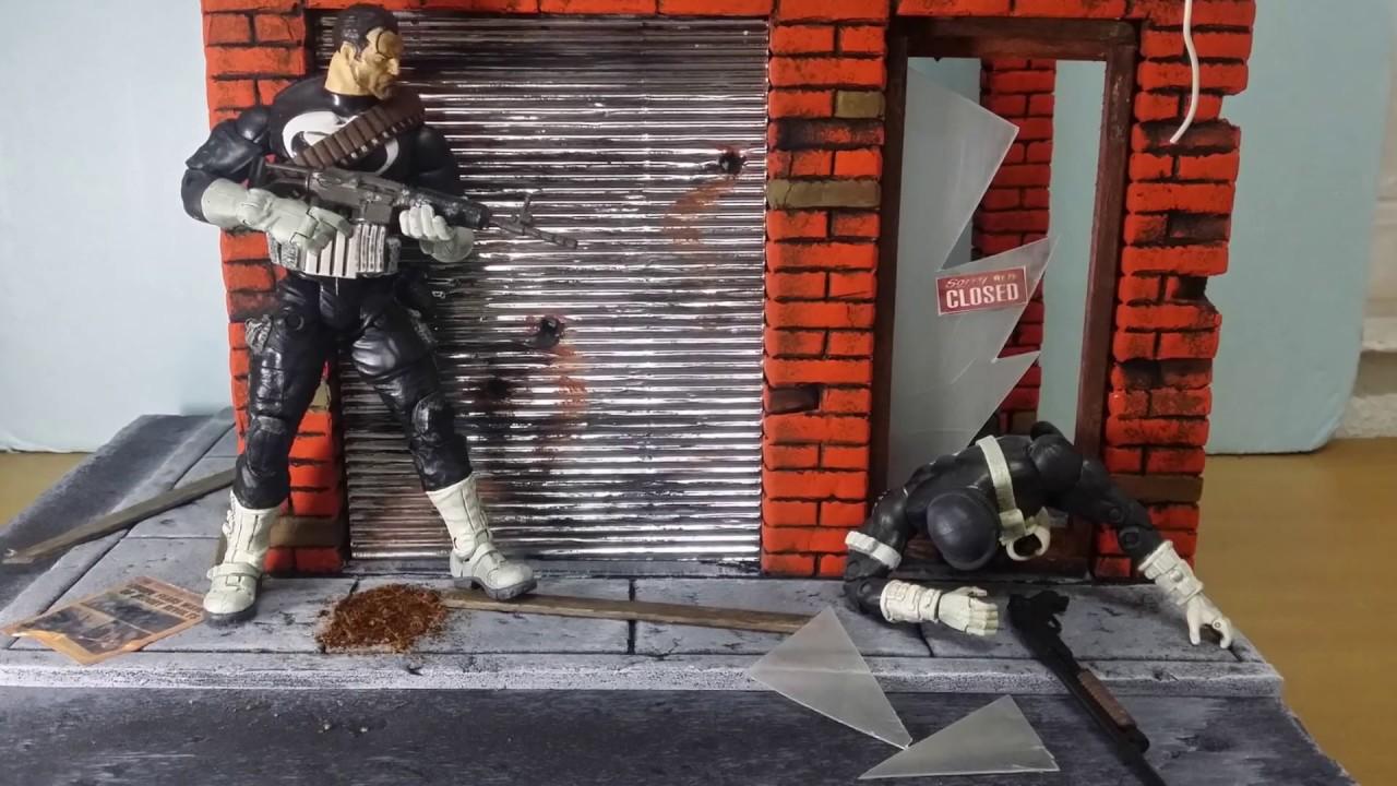 Marvel Legends Custom Diorama Damaged Abandoned Warehouse Scale 1:12