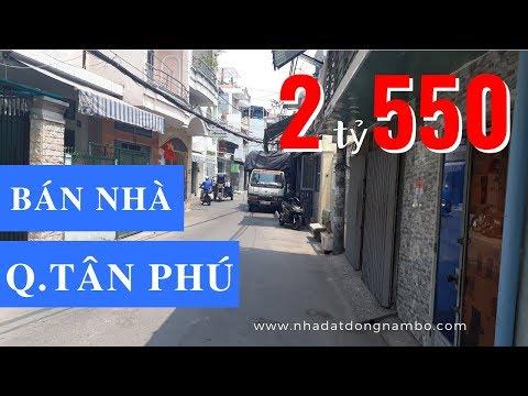 Video nhà bán quận Tân Phú dưới 3 tỷ, hẻm 8m đường Phú Thọ Hòa