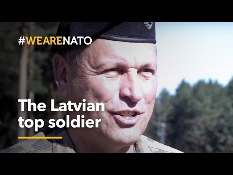 Latvia's top soldier - #WeAreNATO