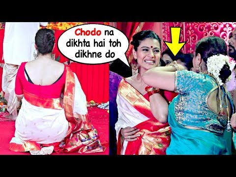 Kajol's SHOKING Attitude With Rani Mukherji's Sister Saving Her From Embarrassment @Durga Pooja 2018