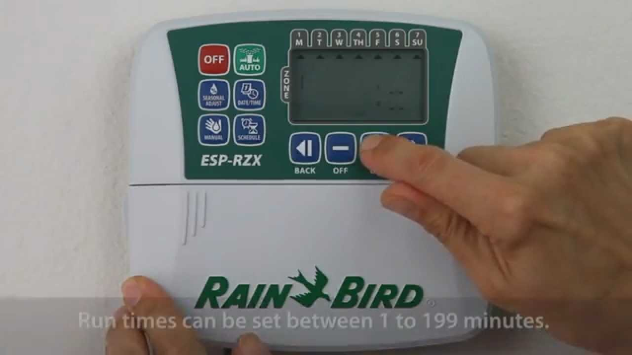 rain bird esp rzx setting zone watering times youtube rh youtube com Instruction Manual Instruction Manual Example
