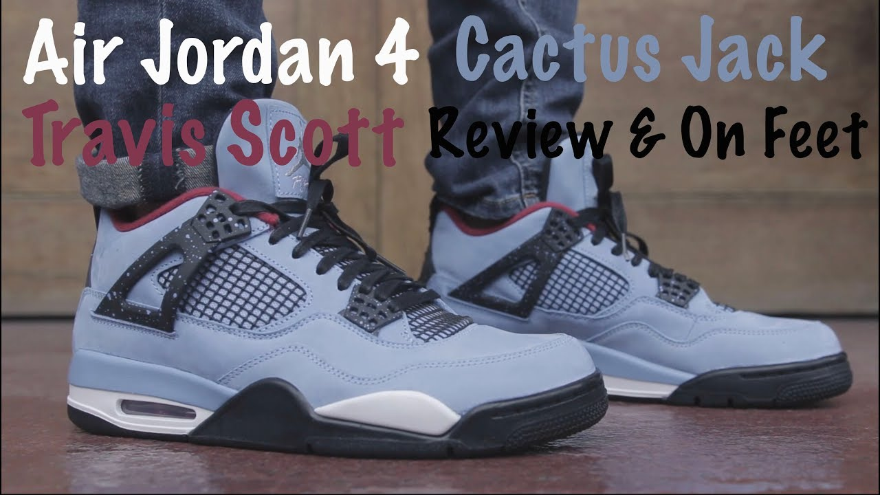 81f25b70508 Air Jordan 4 Travis Scott Cactus Jack Review & On Feet - YouTube