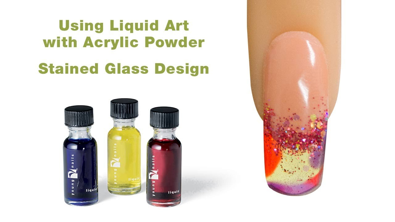 Stained Gl Design Using Young Nails Liquid Art Acrylic Powder You