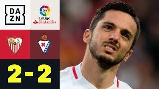 Last-Minute-Wahnsinn! Pablo Sarabia rettet Punkt: FC Sevilla - Eibar 2:2 | La Liga | DAZN Highlights