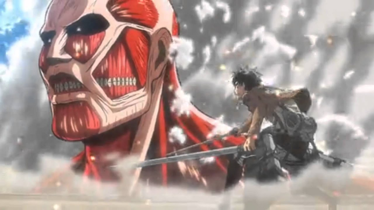 Attack On Titan Colossal Titan Vs Eren | www.pixshark.com ...