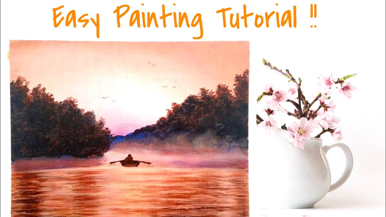Acrylic painting tutorial   Painting tutorial for ...