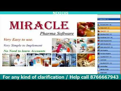 Miracle  Pharma GST Billing Software Full Training