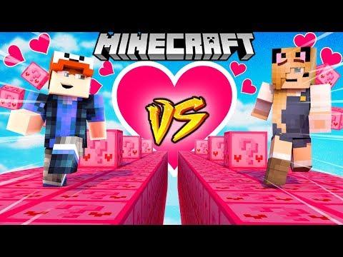 Szalony Wyścig Walentynkowe Lucky Blocki Minecraft Pink Lucky