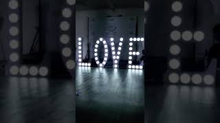 """LOVE"" letters 4' display decor"