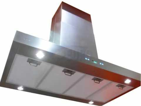 Euro kitchen dunstabzugshaube inselhaube 120cm sv218z2 im48 youtube