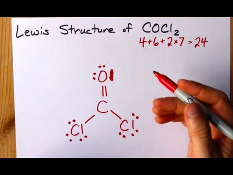 How To Draw The Lewis Structure Of COCl2 (dichloromethanal, Phosgene)