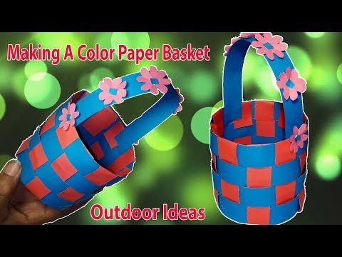 How To Make A Paper Basket At Home DIY Paper Craft