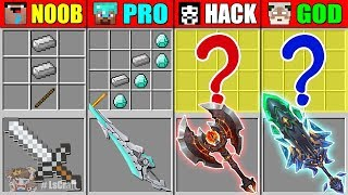 Minecraft NOOB vs PRO vs HACKER vs GOD Ability Sword CRAFTING …