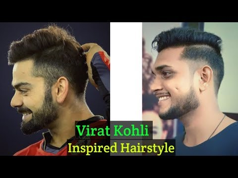 Virat Kohli Hairstyle Inspired Haircut 2018 - Men's Hairstyles & Haircut - Indian men Hairstyle .#85