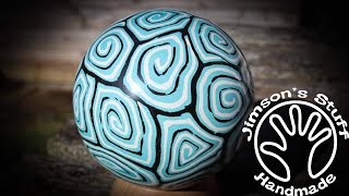 Woodturning a Milliput Sphere - New Turquoise