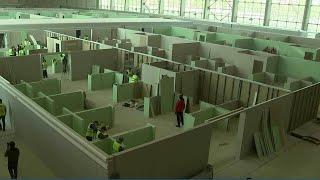 В Москве определены 44 площадки для развертывания временных госпиталей.