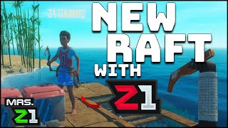 STRANDED With Z1 Gaming !!!! Was This A Mistake ??? Raft Co-op Ep. 1 | Mrs. Z1