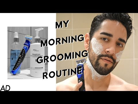 My Morning Grooming Routine- Beard Grooming & Shaping - Gillette ProGlide Styler #AD ✖ James Welsh