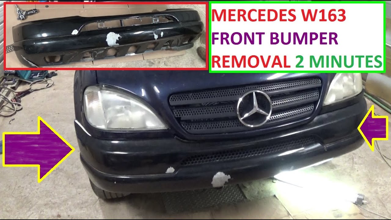Mercedes W163 Front Bumper Removal And Replacement In 2