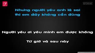 Karaoke Làm Người Yêu Em Nhé Baby Wendy Thảo ♪Beat Chuẩn