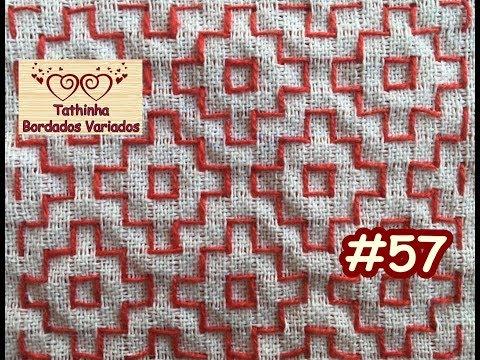 PONTO ALINHAVO (SASHIKO) MODELO 2 - Tathinha Bordados #57