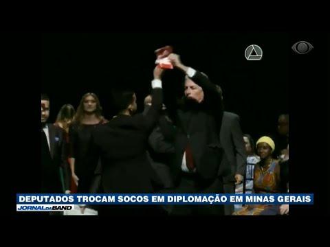 [VÍDEO] DEPUTADOS ELEITOS TROCAM SOCOS EM EVENTO DE DIPLOMAÇÃO EM MG