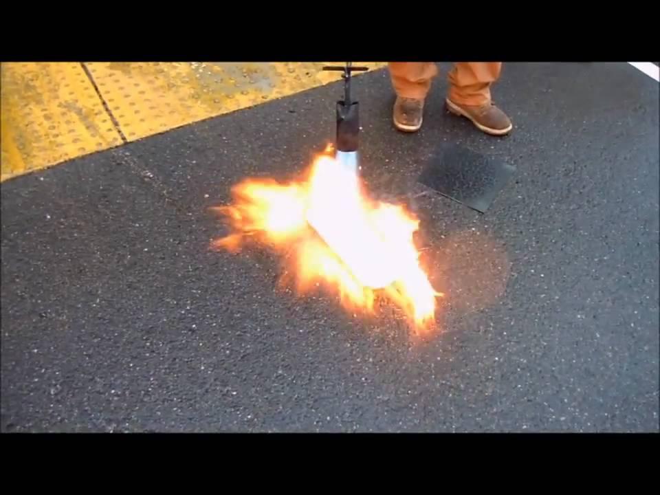 Pvc Vs Tpo Roof Membrane Burn Test Youtube