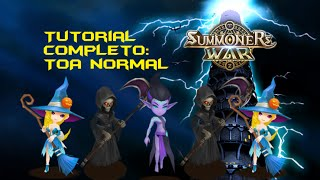 tutorial toa normal aschubel 2x megan 2x thrain arena summoners war