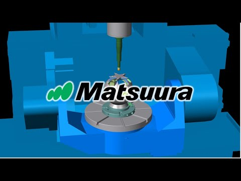 MATSUURA MX-520 Machine Tool CNC Simulation with NCSIMUL