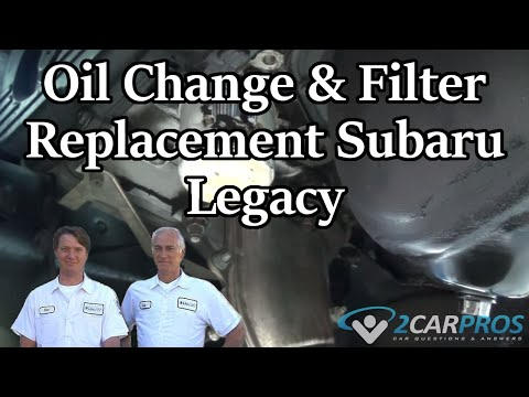 Oil Change & Filter Replacement Subaru Legacy 2003-2009 - YouTube