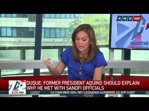 Aquino should attend probe on dengue vaccine: health chief