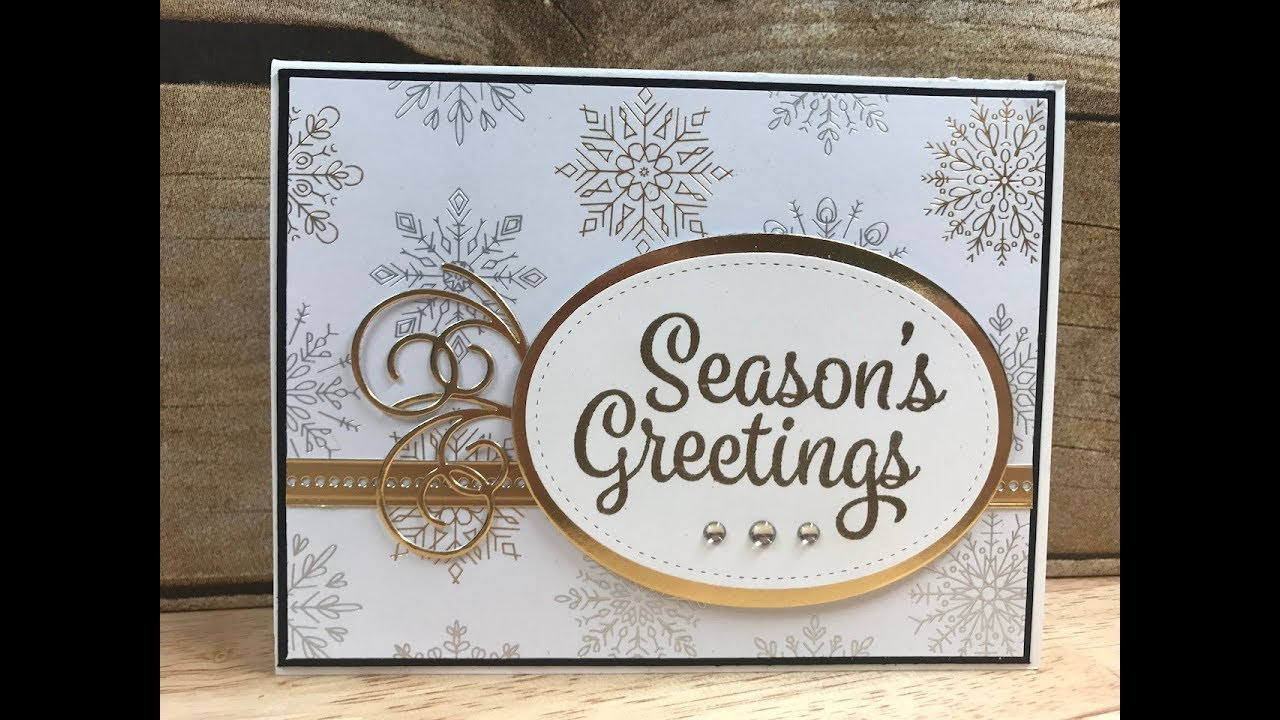 Stampin Up Snowflake Sentiments YouTube