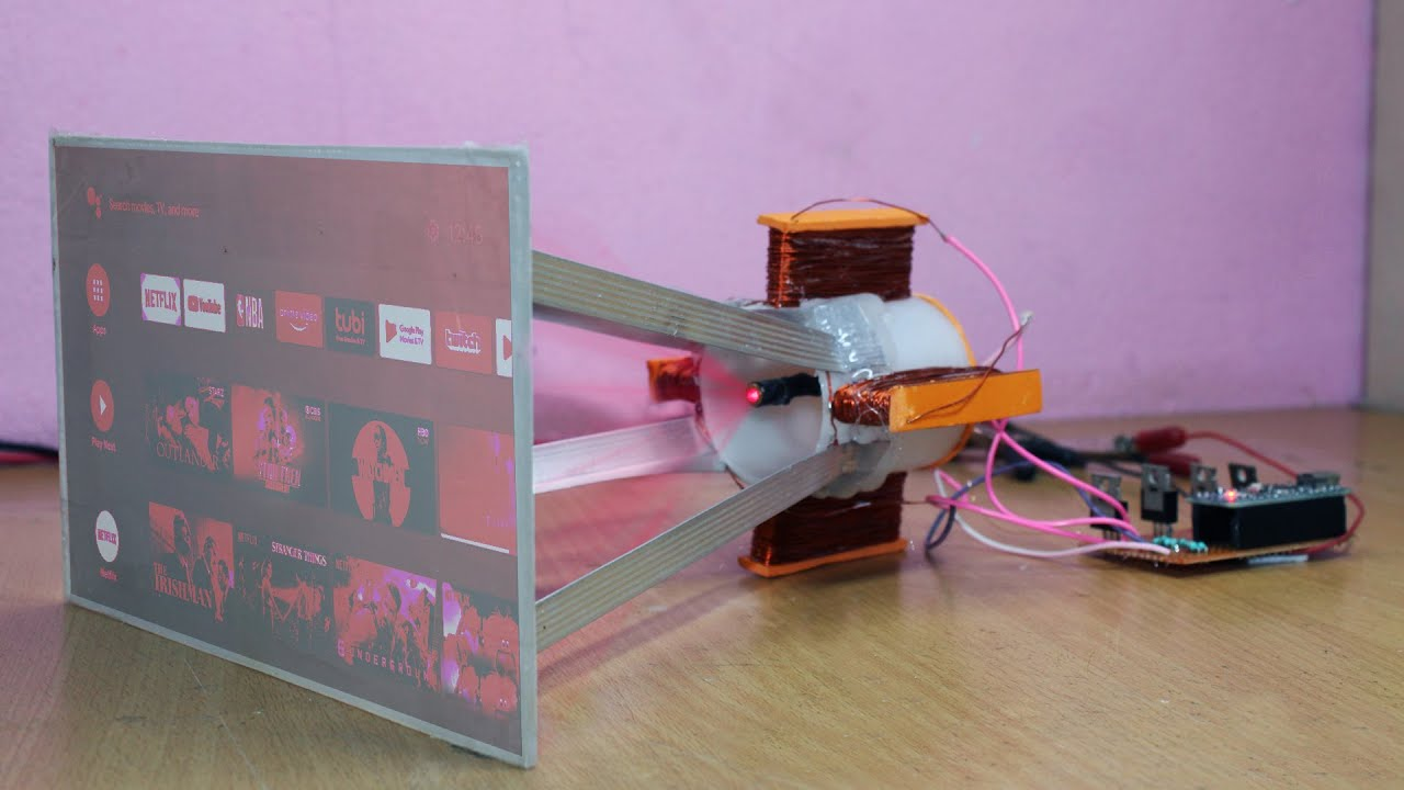 how to make projector display with laser light