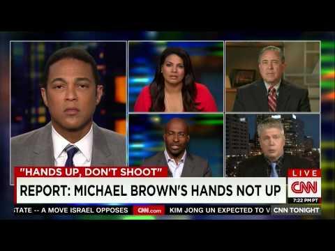 CNN: Van Jones Responds to Findings: Michael Brown's Hands Not Up (part 1)