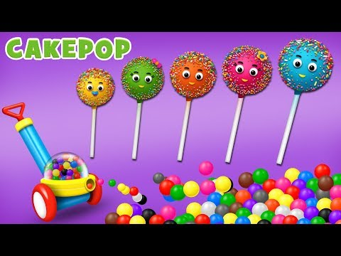 Fun Finger Family Play with Cake Pop and Color Balls Machine for Children