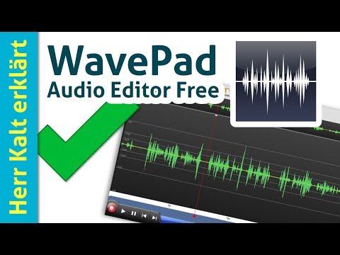 WavePad Audio Editor Anleitung: Einstieg und einfache Aufnahmen (Tutorial aus Deutsch)