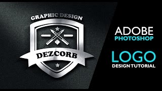 how to make logo in photoshop cs6 | steel badge logo