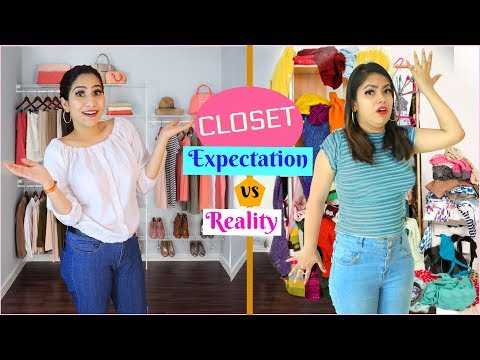CLOSET TOUR - Expectations Vs Reality | Behind The Scenes | #Fun #Vlog #Anaysa