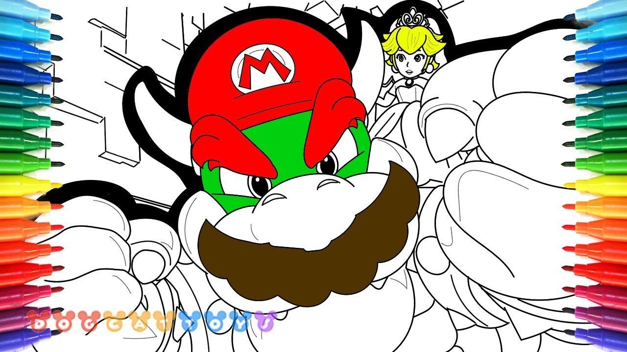 How To Draw Super Mario Odyssey Bowser Mario Princess Peach 82
