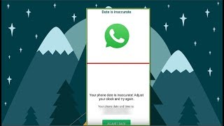 Download Fix Whatsapp your Phone date is Inaccurate Adjust your clock and try again 4 Solutions