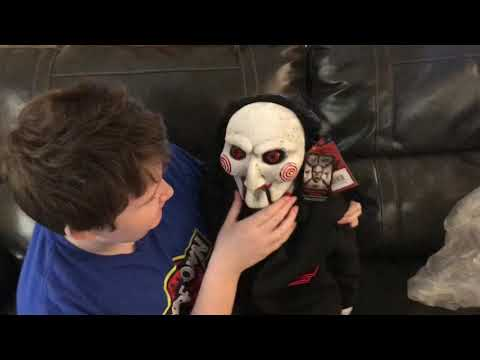 Download Saw billy puppet prop trick or treat studios unboxing