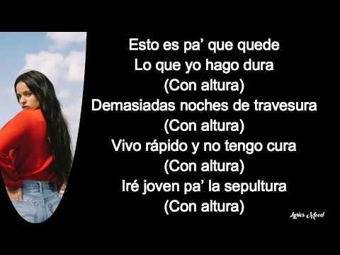 Rosalia, J balvin, El Guincho - Con Altura LETRA