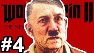 HITLER OLD MAN! WTF? Wolfenstein II: The New Colossus Gameplay Walkthrough Part 4